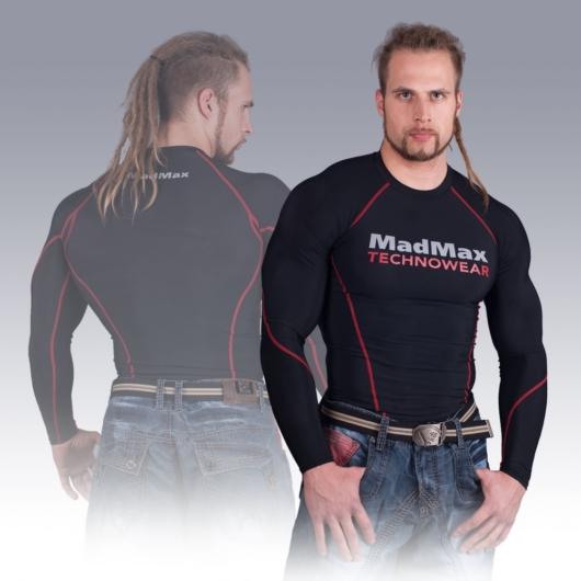 MADMAX Compression Long Sleeve Top Red hosszú ujjú felső