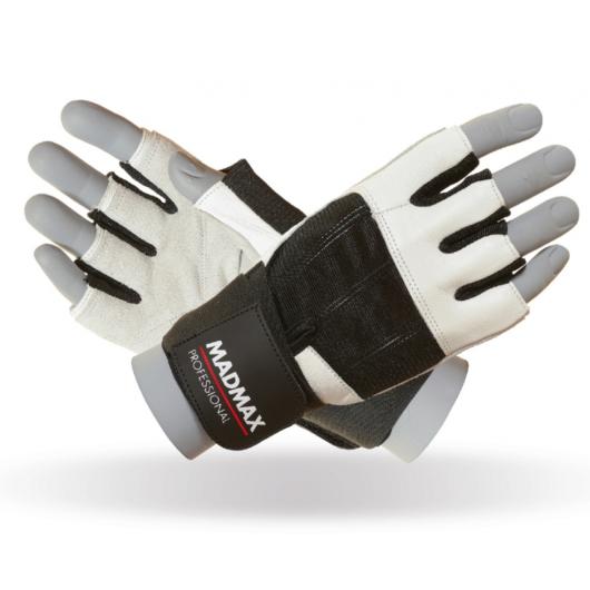 MADMAX Professional White csuklószorítós kesztyű