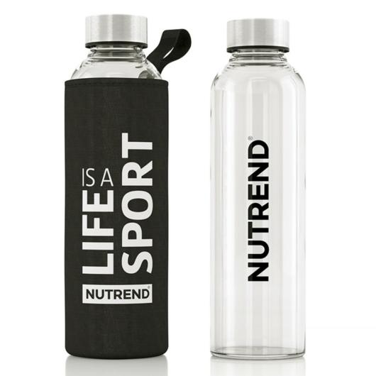 Nutrend Glass Bottle üveg kulacs black - 500 ml