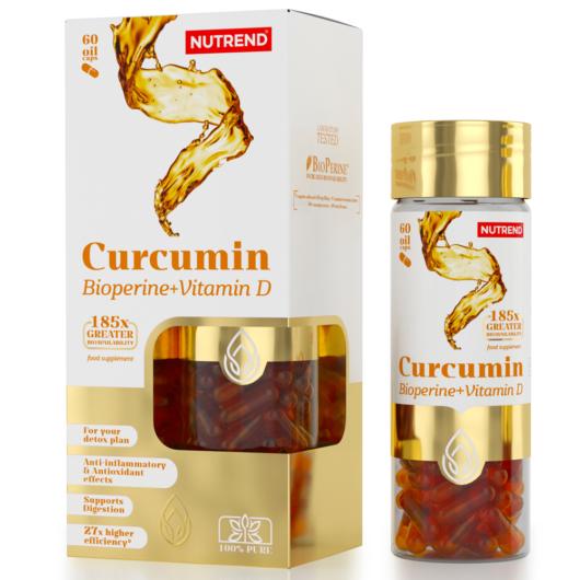 Nutrend Curcumin + Bioperine + Vitamin D - 60 kapszula
