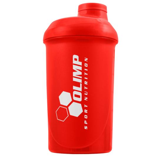 """OLIMP """"GO HARD OR GO HOME"""" Shaker 500ml - red"""