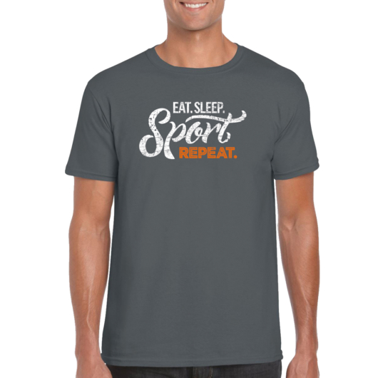 Man T-shirt Repeat - Gray