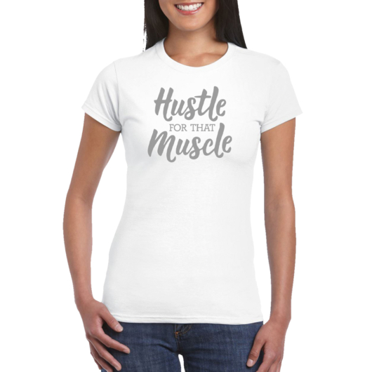 Ladies T-shirt Hustle - White
